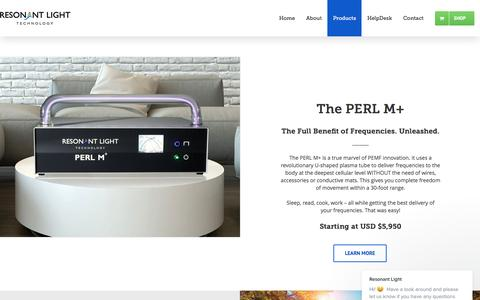 Screenshot of Products Page resonantlight.com - Our Products - Frequency Machines - Resonant Light Technology - captured March 29, 2017
