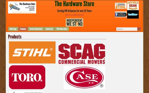 Screenshot of Products Page ths5.com - Products | The Hardware Store - captured Oct. 26, 2014