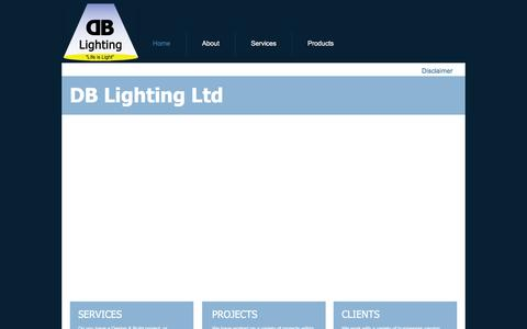 Screenshot of Home Page dblighting.co.uk - DB Lighting Consultants Ltd - captured Feb. 8, 2016