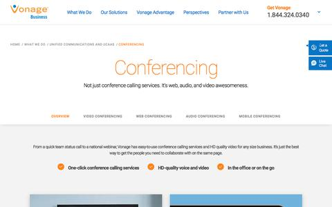 Conference Calling Services | Vonage Business