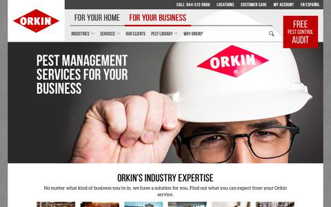 Screenshot of Services Page orkin.com - Commercial Pest Control: Exterminators for Business - captured April 4, 2018