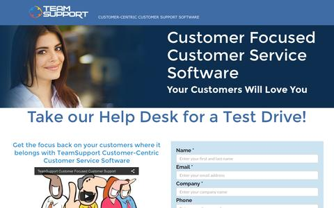 Screenshot of Landing Page teamsupport.com - B2B Customer Service Software Free Trial - captured May 24, 2016