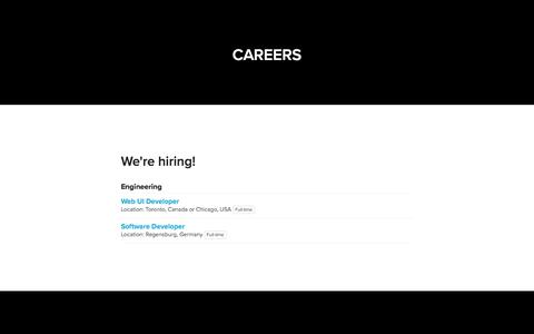 Screenshot of Jobs Page navops.io - Navops - Careers - captured Jan. 6, 2018