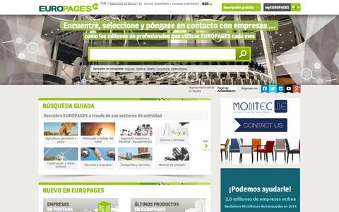 Screenshot of europages.es - Buscar empresas, productos y servicios B-to-B a escala internacional - EUROPAGES - captured Sept. 12, 2015