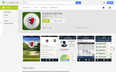 Screenshot of Android App Page google.com - Cardinal Golf Club - Android Apps on Google Play - captured Oct. 22, 2014