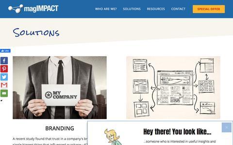 Screenshot of Services Page magimpact.com - Online Marketing Services - Websites, Email Marketing, more... - captured Nov. 19, 2019