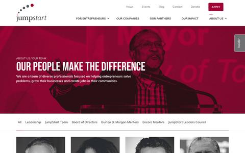 Screenshot of Team Page jumpstartinc.org - JumpStart Team - Our People Make the Difference - captured Oct. 31, 2019