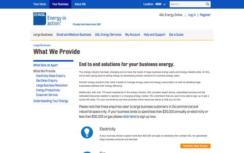 AGL - Large Business Energy Solutions