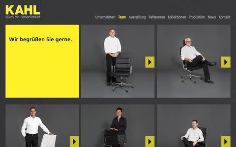 Screenshot of Team Page kahl.de - KAHL Büroeinrichtungen GmbH - Der Büroeinrichter und Objektausstatter in Mannheim und für die Metropolregion Rhein-Neckar - Team - captured Oct. 1, 2014