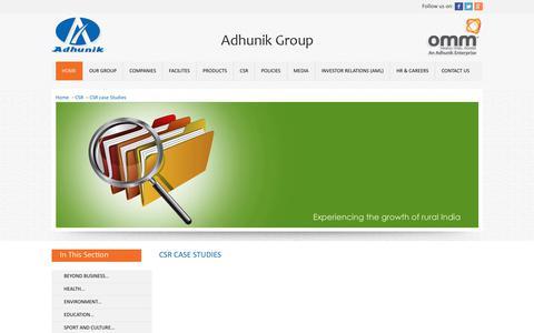 Screenshot of Case Studies Page adhunikgroup.com - Adhunik Group of Industries - captured Sept. 24, 2018
