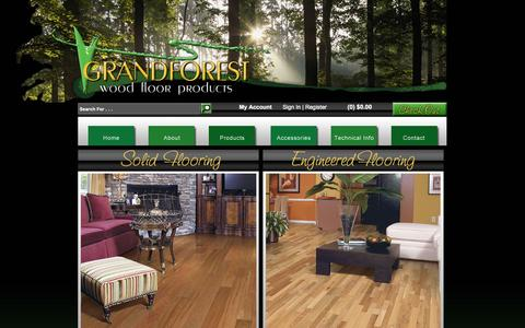 Screenshot of Products Page grandforeststore.com - Solid Hardwood Flooring | Engineered Hardwood Flooring - captured Feb. 1, 2016