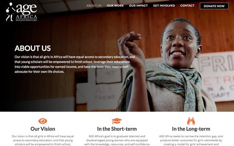 Screenshot of About Page ageafrica.org - About Us – AGE Africa - captured Sept. 25, 2018