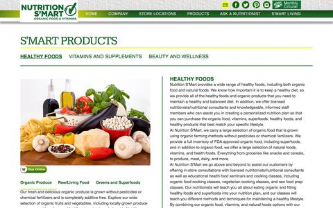 Screenshot of Products Page nutritionsmart.com - Nutrition Smart - Nutrition Smart Products - captured Oct. 9, 2014