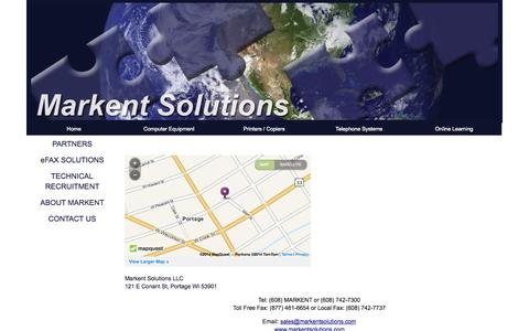 Screenshot of Maps & Directions Page markentsolutions.com - Site Suspended - This site has stepped out for a bit - captured Oct. 27, 2014