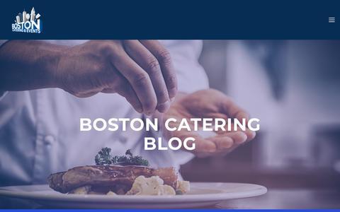 Screenshot of Blog bostoncater.com - Boston Catering – Blog — Boston Catering & Events - captured Nov. 13, 2018