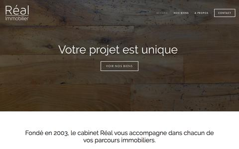 Screenshot of Home Page real-immo.fr - Réal Immobilier - captured Feb. 13, 2016