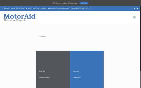 Screenshot of Terms Page motoraid.com - Legal - MotorAid - captured July 13, 2018