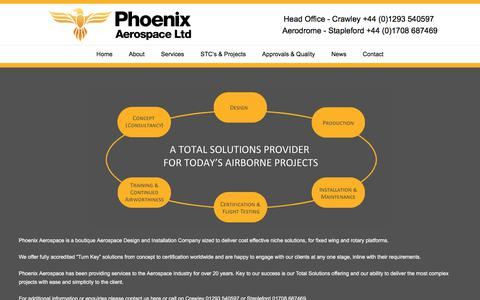 Screenshot of About Page phoenixaerospace.co.uk - About Phoenix Aerospace - Phoenix AerospacePhoenix Aerospace - captured July 30, 2017