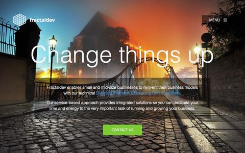 Screenshot of Home Page fractaldev.com - Website Design & Development   Call Center Services Philippines - captured Sept. 11, 2015