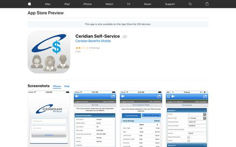 Ceridian Self-Service on the AppStore