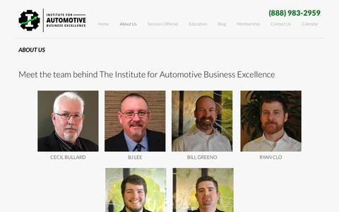 Screenshot of About Page iforabe.com - About Institute for Automotive Business Excellence - captured Nov. 26, 2016