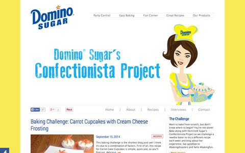 Screenshot of Blog dominosugar.com - Home | Domino Sugar's Confectionista Project - captured Sept. 19, 2014