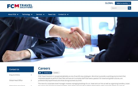 Screenshot of Jobs Page fcm.travel - Careers | FCM Travel Solutions - captured Oct. 2, 2017