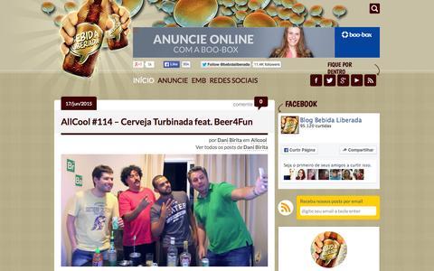 Screenshot of Home Page bebidaliberada.com.br - Bebida Liberada - Bom Humor e Boa Bebida Liberados! - captured June 17, 2015