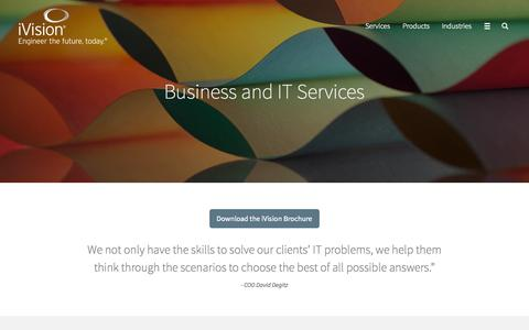 Screenshot of Services Page ivision.com - Consulting Services | iVision - captured Nov. 17, 2015