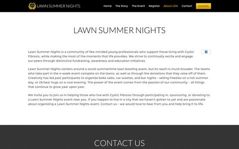 Screenshot of About Page lawnsummernights.com - Lawn Summer Nights - captured Sept. 29, 2014