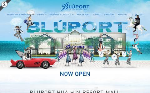 Screenshot of Home Page bluporthuahin.com - Bluport Huahin, best shopping mall and fashion mall in Huahin - captured Jan. 19, 2017