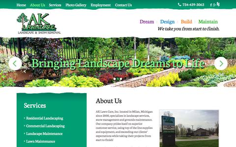 Screenshot of About Page ak-lawncare.com - About Us | AK Lawn Care Inc | Milan, MI - captured Oct. 6, 2017