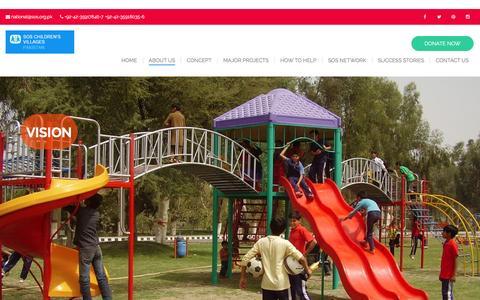 Screenshot of About Page sos.org.pk - VISION – SOS Children's Village - captured Jan. 5, 2017