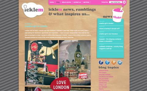 Screenshot of Blog icklem.com - Icklem | Creative services to launch new ideas - captured Oct. 6, 2014