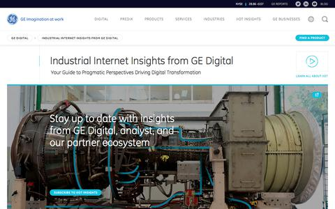 Screenshot of Blog ge.com - The Industrial Internet | IIoT Insights | Industry 4.0 | GE Digital - captured June 16, 2017