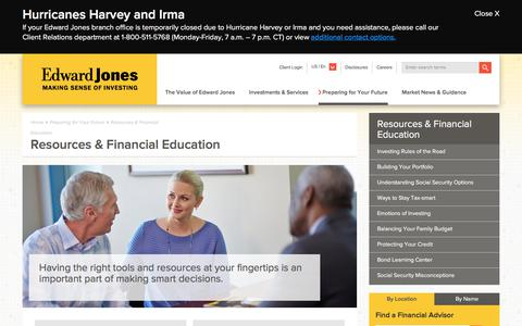 Resources & Education | Edward Jones