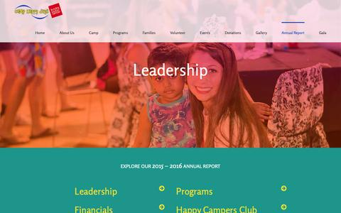Screenshot of Team Page camphappydays.org - Leadership | Camp Happy Days - captured Oct. 22, 2018
