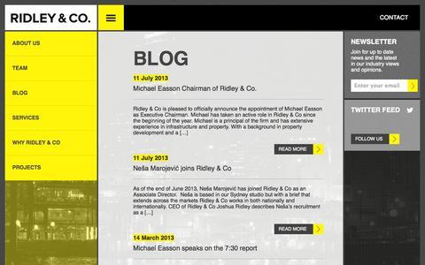 Screenshot of Blog ridleyco.com - Ridley & Co. | BLOG - captured Sept. 30, 2014