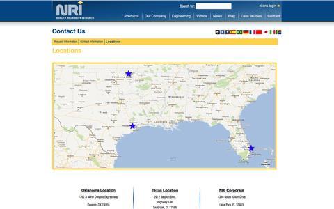 Screenshot of Locations Page infrastructurerepair.com - LocationsNRI | NRI - captured March 15, 2016
