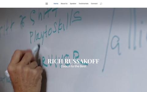 Screenshot of Home Page coachtothebest.com - Rich Russakoff - captured June 7, 2019