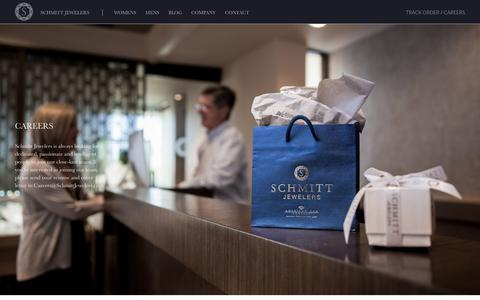 Screenshot of Jobs Page schmittjewelers.com - Careers - Schmitt Jewelers - captured May 28, 2017