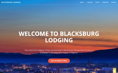 Screenshot of Home Page blacksburglodging.com - Blacksburg Lodging - captured Sept. 13, 2015