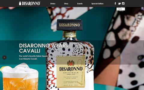 Screenshot of Home Page disaronno.com - Home - Disaronno - captured Jan. 30, 2016