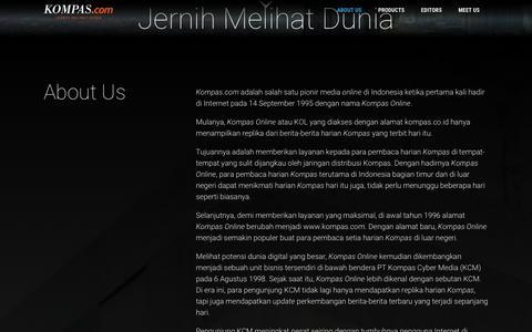 Screenshot of About Page Contact Page kompas.com - About Us - Kompas.com - captured Sept. 21, 2018