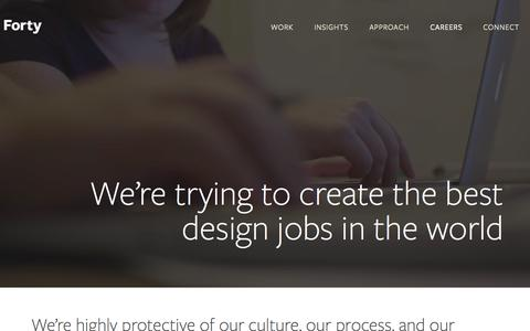 Screenshot of Jobs Page forty.co - Design jobs | Forty - captured Sept. 19, 2014