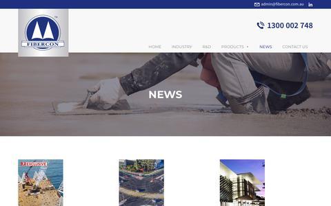 Screenshot of Press Page fibercon.com.au - News – Fibercon - captured Dec. 19, 2018