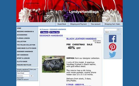 Screenshot of Home Page lyndyshandbags.com - DESIGNER HANDBAGS - Shop - captured Dec. 15, 2015