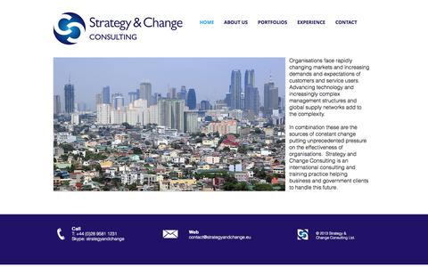 Screenshot of Home Page strategyandchange.eu - Strategy and Change Consulting - captured Oct. 7, 2014