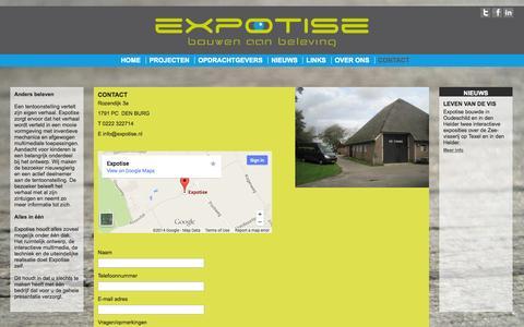 Screenshot of Contact Page expotise.nl - Contact - captured Sept. 30, 2014