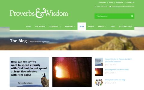 Screenshot of Blog proverbsnwisdom.com - Proverbs & Wisdom   » The Blog - captured Feb. 1, 2016